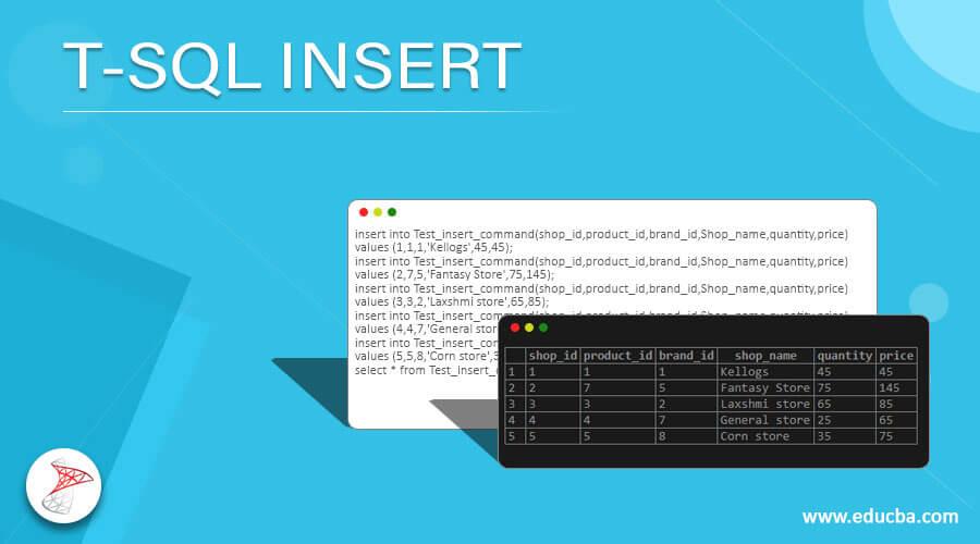 T-SQL INSERT