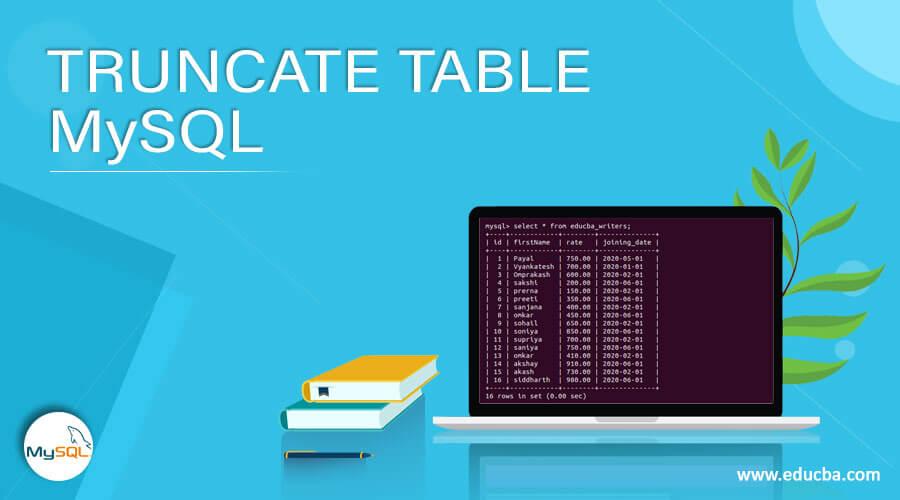 TRUNCATE TABLE MySQL