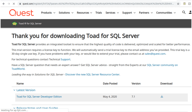 Toad for MySQL 4
