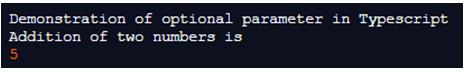 TypeScript Optional Parameters-1.1