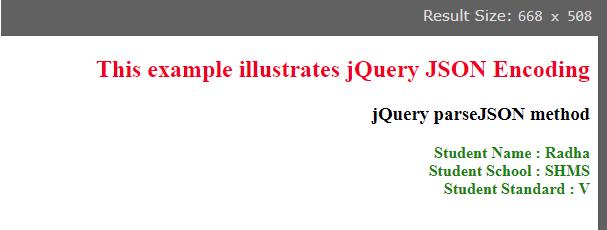 jQuery JSON Encode 2
