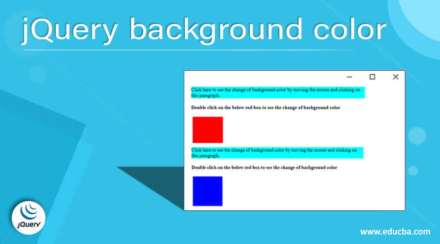 jQuery background color