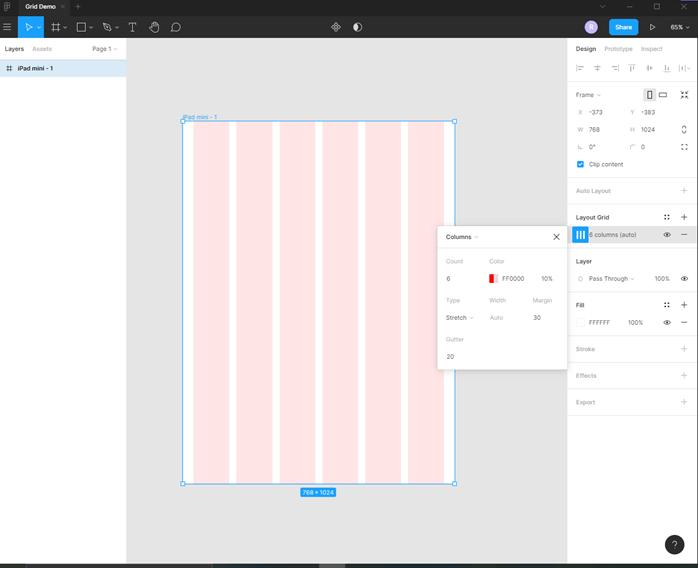Figma grid output 3