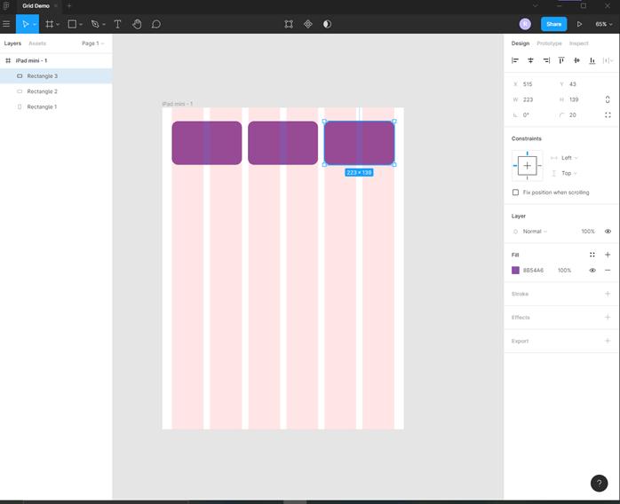 Figma grid output 6