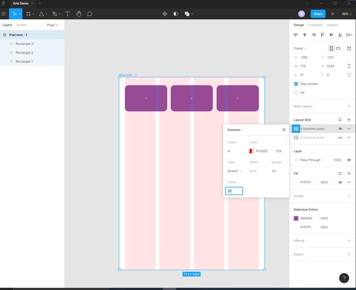 Figma grid output 7
