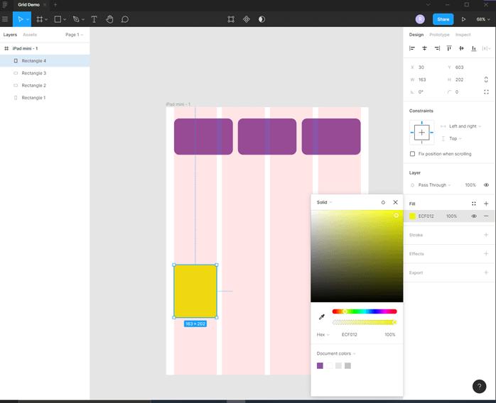 Figma grid output 8