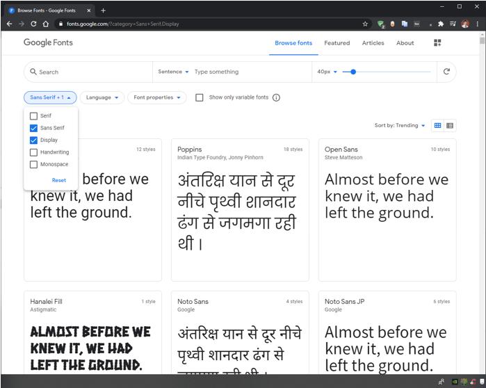 GIMP Fonts 1