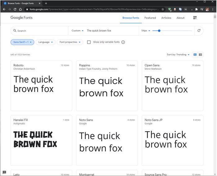GIMP Fonts 3