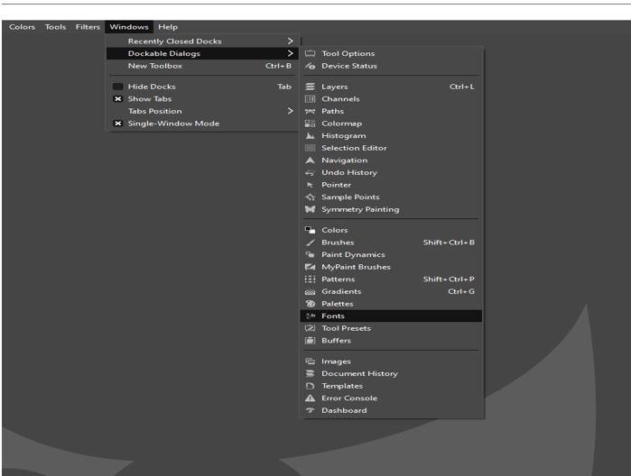 GIMP Fonts10
