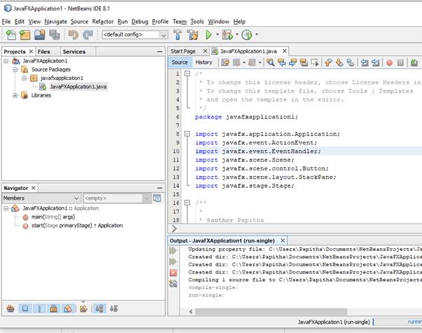 JavaFX FXML output 1
