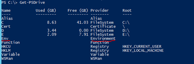 PowerShell set environment variable output 2