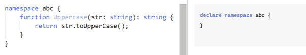 TypeScript namespace output 1