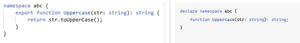 TypeScript namespace output 2