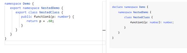 TypeScript namespace output 3