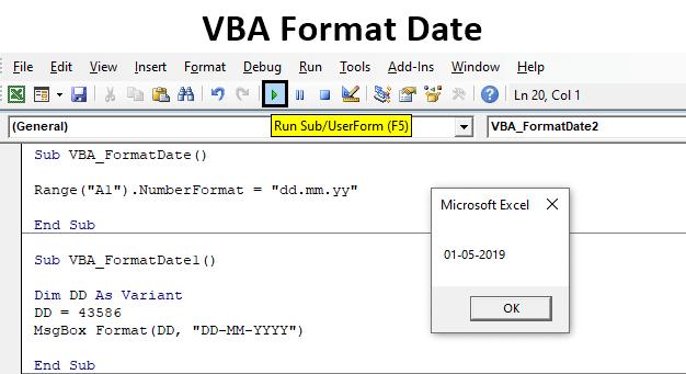 VBA Format Date