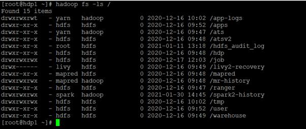 HDFS ls output 1