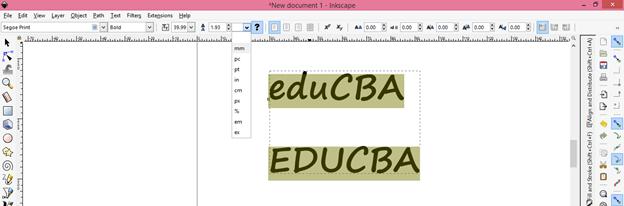 Inkscape text output 10