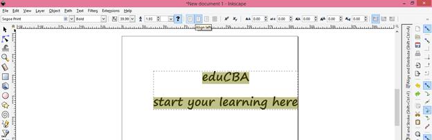 Inkscape text output 11