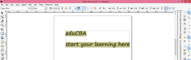 Inkscape text output 12