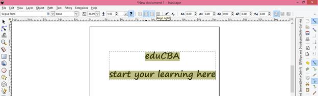 Inkscape text output 14