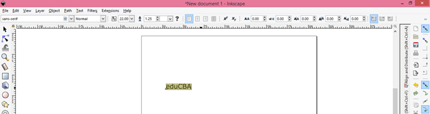 Inkscape text output 2