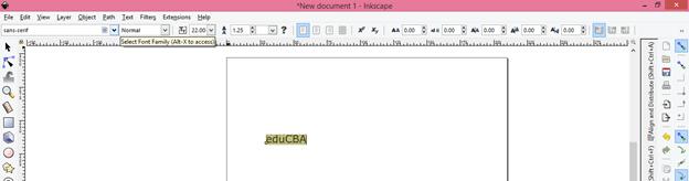 Inkscape text output 3