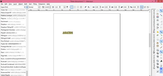 Inkscape text output 4