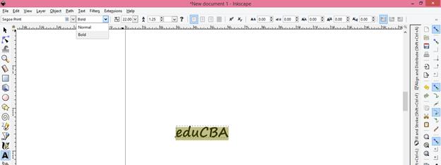 Inkscape text output 5