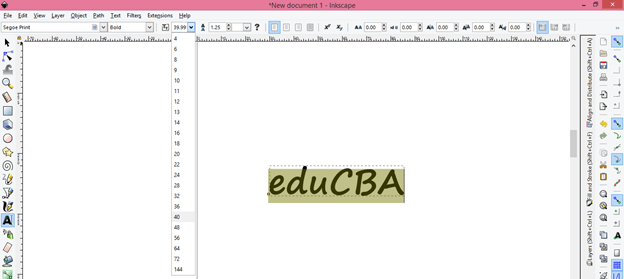 Inkscape text output 6