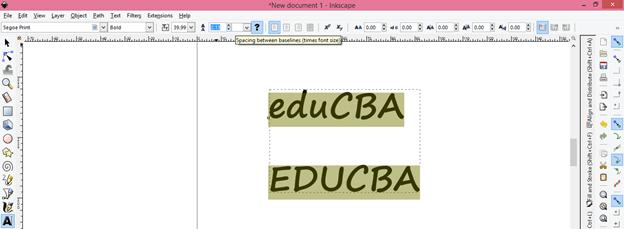 Inkscape text output 9