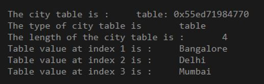 show the table data types return