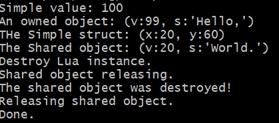 Lua userdata output