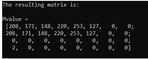 C++ to create a matrix