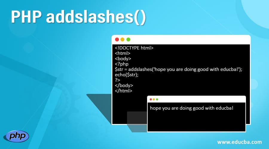 PHP addslashes()