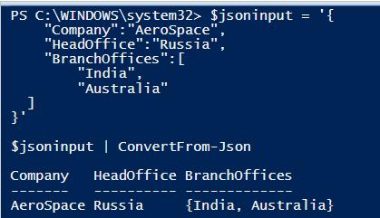 PowerShell JSON Format 3