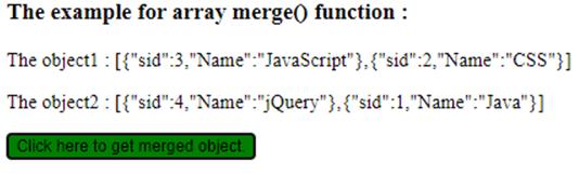 jQuery Merge-1.5