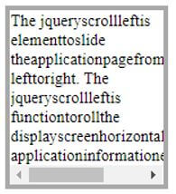 jQuery scrollLeft 1
