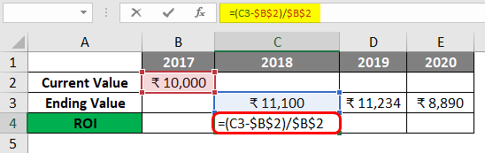 Calculating Investment Return In Excel 1-3