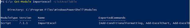 PowerShell uninstall module output 3
