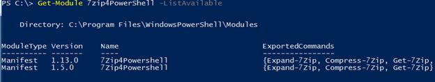 PowerShell uninstall module output 4
