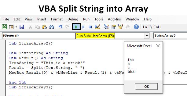 VBA Split String into Array