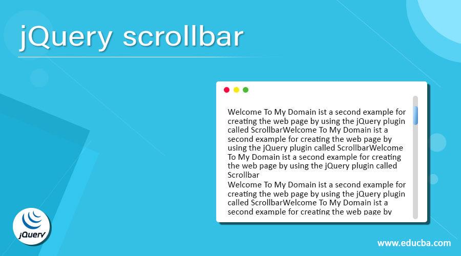jQuery scrollbar