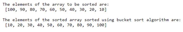 Bucket Sort in Java -1.1