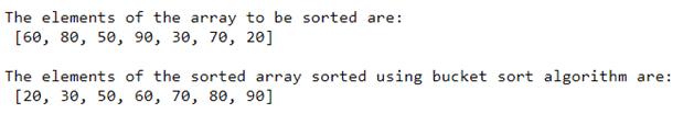 Bucket Sort in Java -1.2