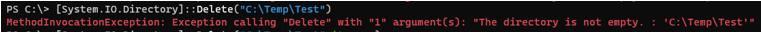 Empty Directory Example 6