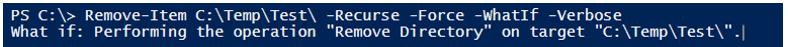 PowerShell Delete Folder Example 2
