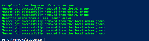 PowerShell remove User from group