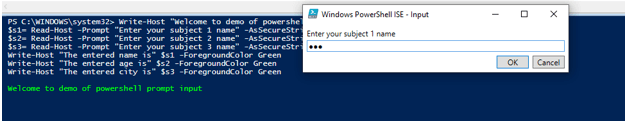 powershell promt input 2