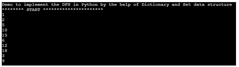 DFS Algorithm in Python -1.3