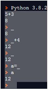 Underscore in Python-1.1